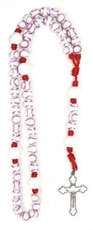 Baseball Sports Bead Rosary