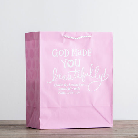 God Made You Amazing - Pink Gift Bag [large]