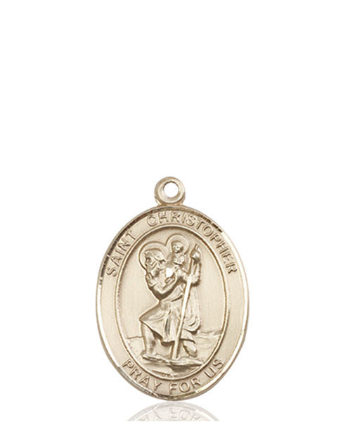 Patron Saint of Travelers//Motorists 14kt Gold St Christopher Medal