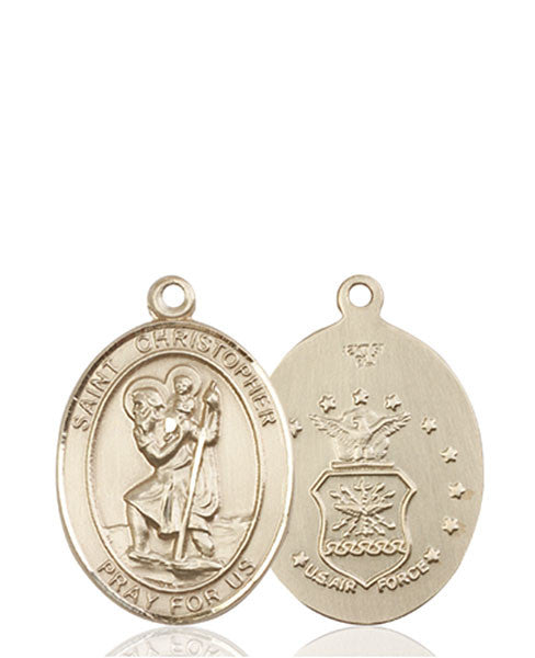 14kt Gold St. Christopher / Air Force Medal