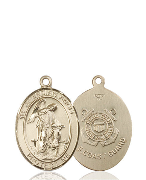 14kt Gold Guardian Angel / Coast Guard Medal