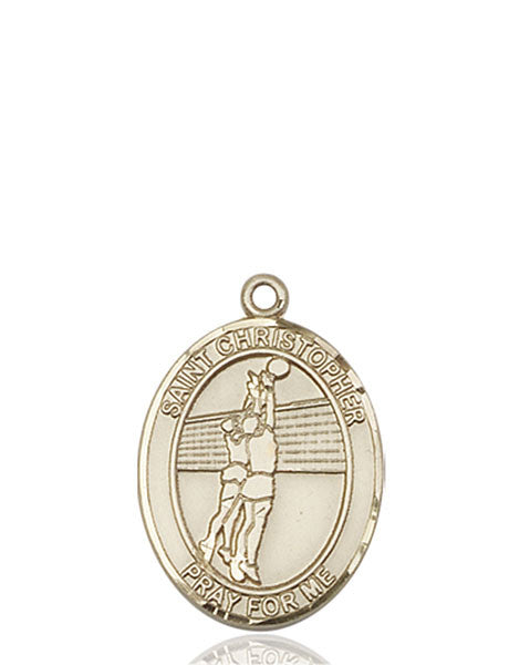 14kt Gold St. Christopher/Volleyball Medal