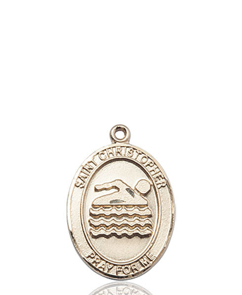 14kt Gold St. Christopher/Swimming Medal