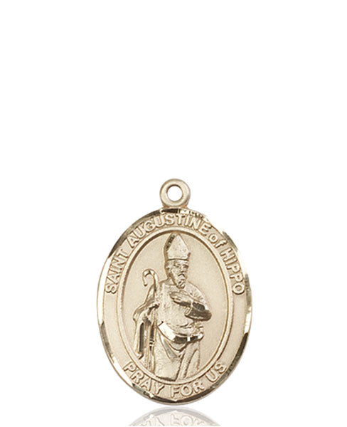 14kt Gold St. Augustine of Hippo Medal