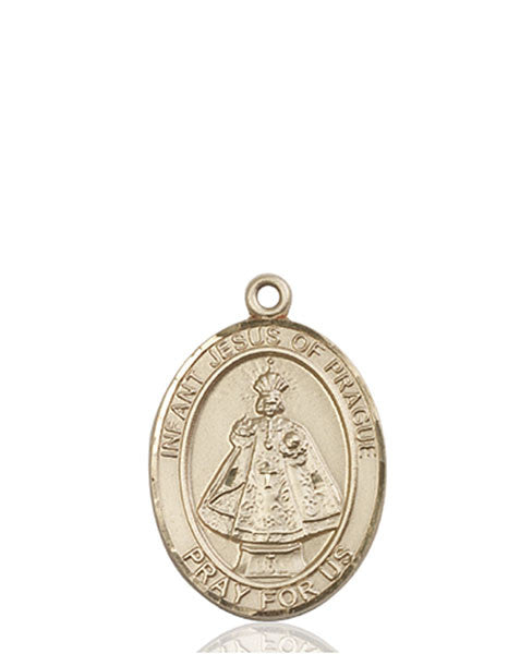 14kt Gold Infant of Prague Medal