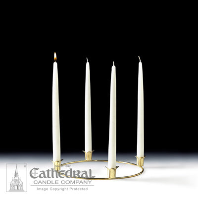 "Advent Home 12"" Tapers with Gold Wreath"