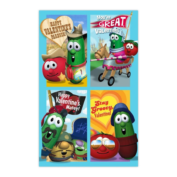 Veggie Tales - Children's Valentines - 26 Boxed Cards