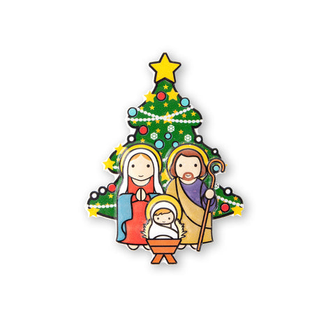 Magnet Resin Nativity