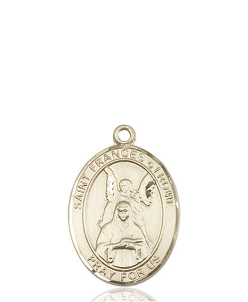 14kt Gold St. Frances Of Rome Medal