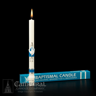 Baptismal Candle 51% Beeswax