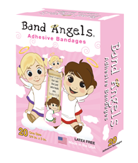 Band Angels Adhesive Bandage (Pink)