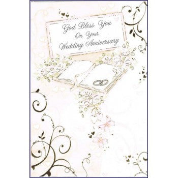 God Bless You Anniversary Greeting Card