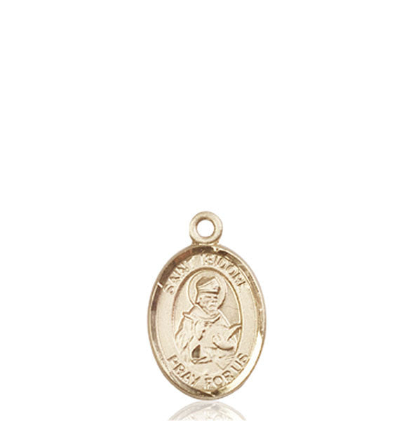 14kt Gold St. Isidore of Seville Medal