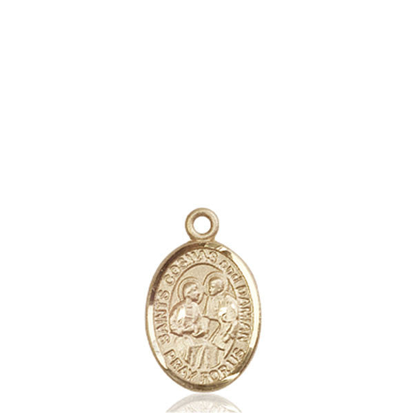 14kt Gold Sts. Cosmas & Damian Medal