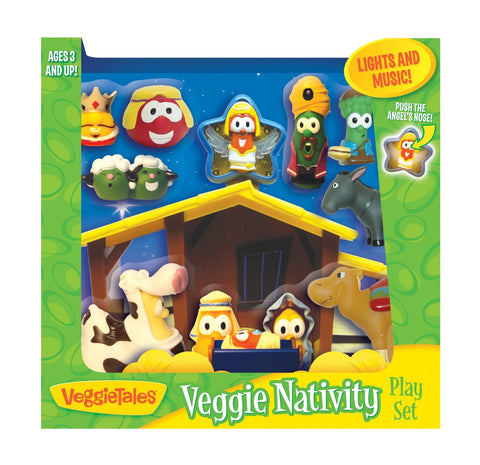 Veggie Tales Nativity Play Set