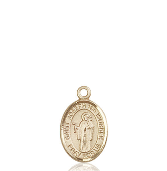 14kt Gold St. Joseph The Worker Medal