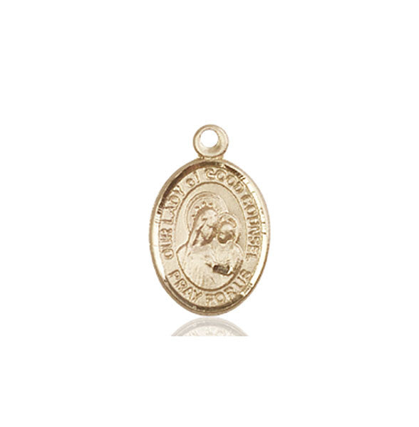 14kt Gold O/L of Good Counsel Medal