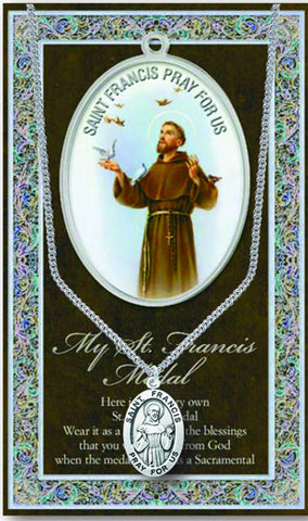 St. Francis Necklace & Chain with Picture Folder