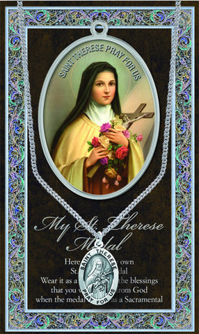St. Therese Necklace & Chain with Picture Folder
