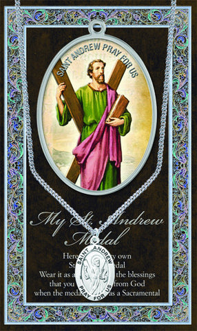 St. Andrew Necklace & Chain with Picture Folder