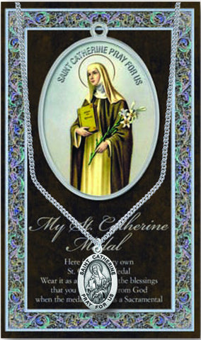 St. Catherine Necklace & Chain with Picture Folder