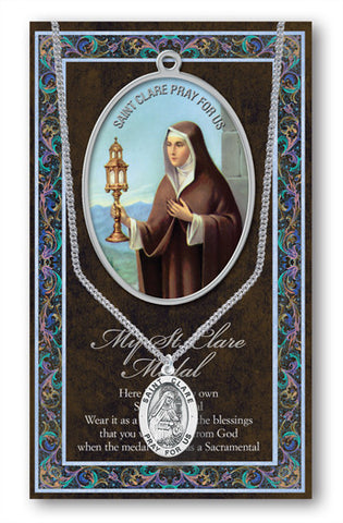 St. Clare Necklace & Chain with Picture Folder