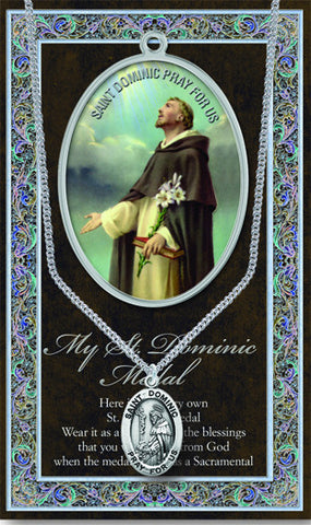 St. Dominic Necklace & Chain with Picture Folder