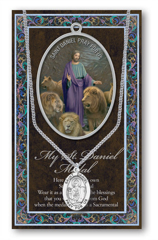 St. Daniel Necklace & Chain with Picture Folder
