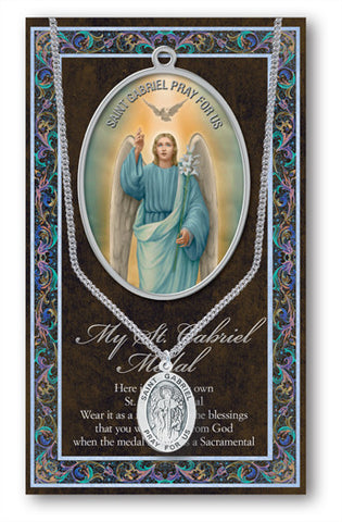 St. Gabriel Necklace & Chain with Picture Folder