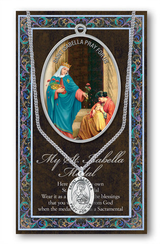 St. Isabella Necklace & Chain with Picture Folder