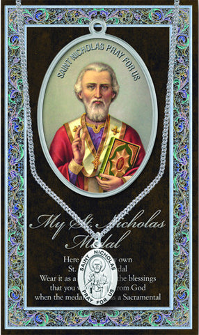 St. Nicholas Necklace & Chain with Picture Folder