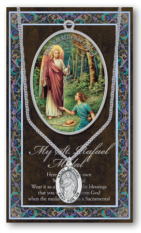 St. Raphael Necklace & Chain with Picture Folder