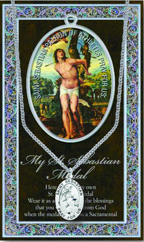 St. Sebastian Necklace & Chain with Picture Folder