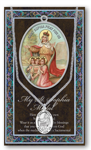 St. Sophia Necklace & Chain with Picture Folder