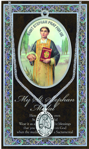 St. Stephen Necklace & Chain with Picture Folder