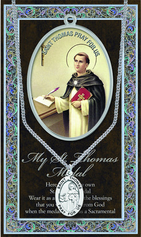 St. Thomas Necklace & Chain with Picture Folder
