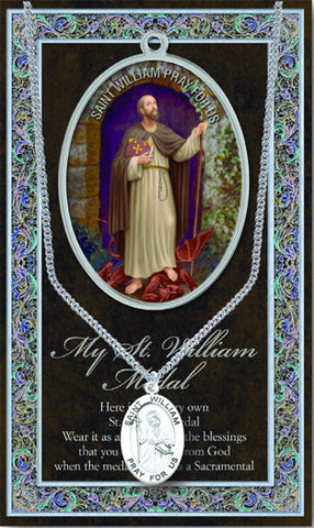 St. William Necklace & Chain with Picture Folder