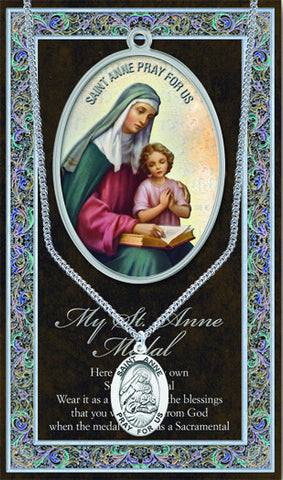St. Anne Necklace & Chain with Picture Folder