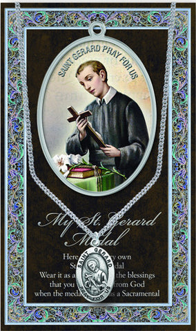 St. Gerard Necklace & Chain with Picture Folder