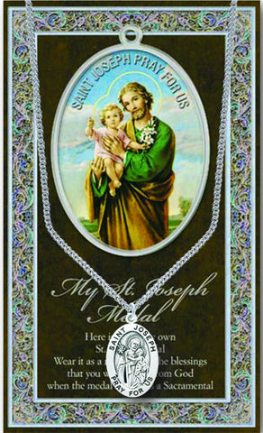 St. Joseph Necklace & Chain with Picture Folder