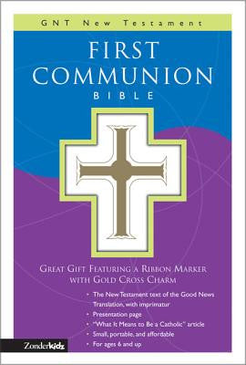 First Communion Bible-GNT-Compact [With Gold Cross Charm on Ribbon Marker]