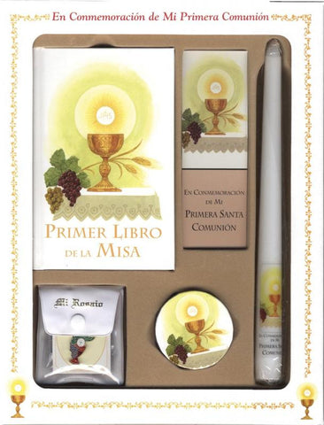 Primer Libro De La Misa (My First Eucharist) Deluxe Set
