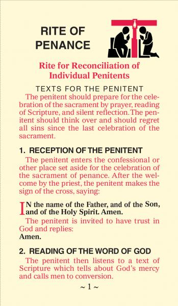 Rite of Penance Card for the People