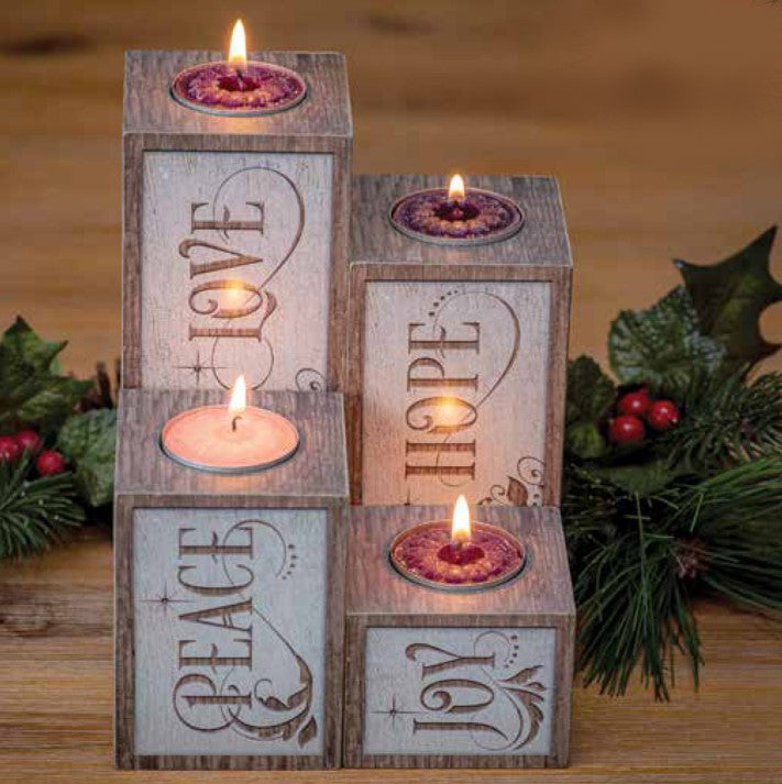 Advent Pillar Wreath Set with Candles