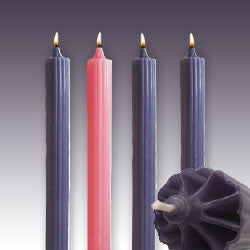 "1 1/2 X 15"" 100% Advent Set 3 Purple 1 Pink Candles Dadant (net) - St. Cloud Book Shop"