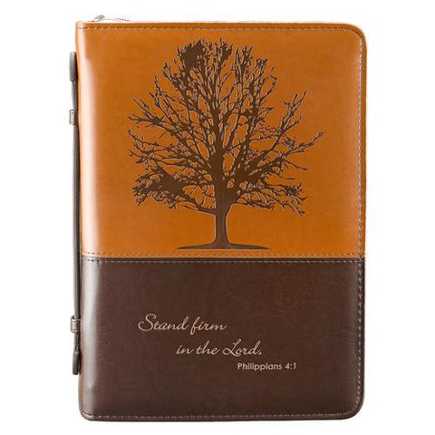 """Stand firm in the Lord"" Bible Cover Medium Religious Articles Christian Art Gifts Inc - St. Cloud Book Shop"