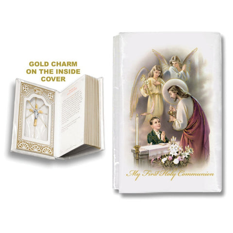 Mother of Pearl First Communion Mass Book - Boy