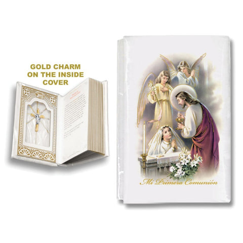 Mother of Pearl First Communion Mass Book - Girl