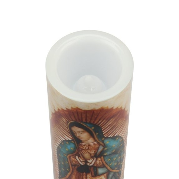 LED Candle – Our Lady of Guadalupe