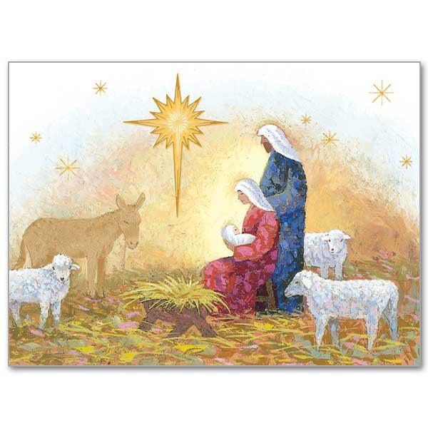 Nativity With Star Spirit Of Christmas Card